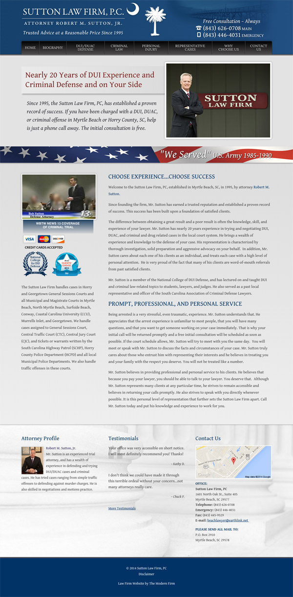 Law Firm Website Design for Sutton Law Firm, P.C.