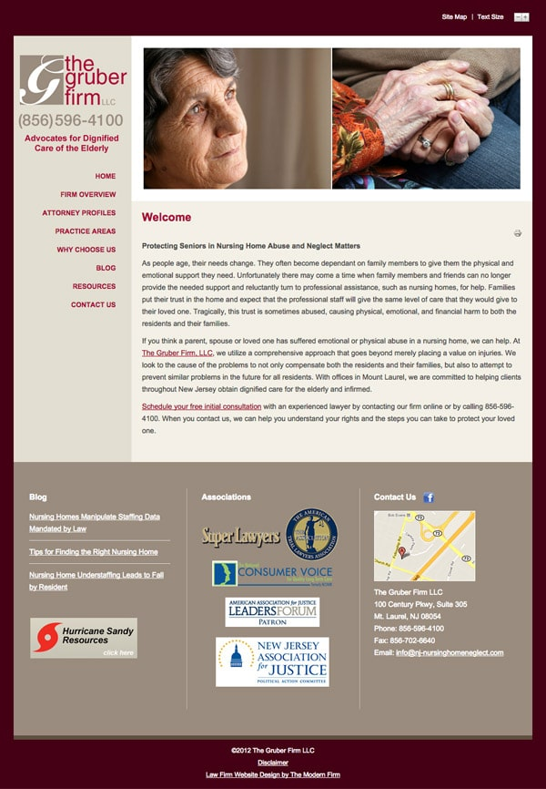Law Firm Website Design for The Gruber Firm, LLC