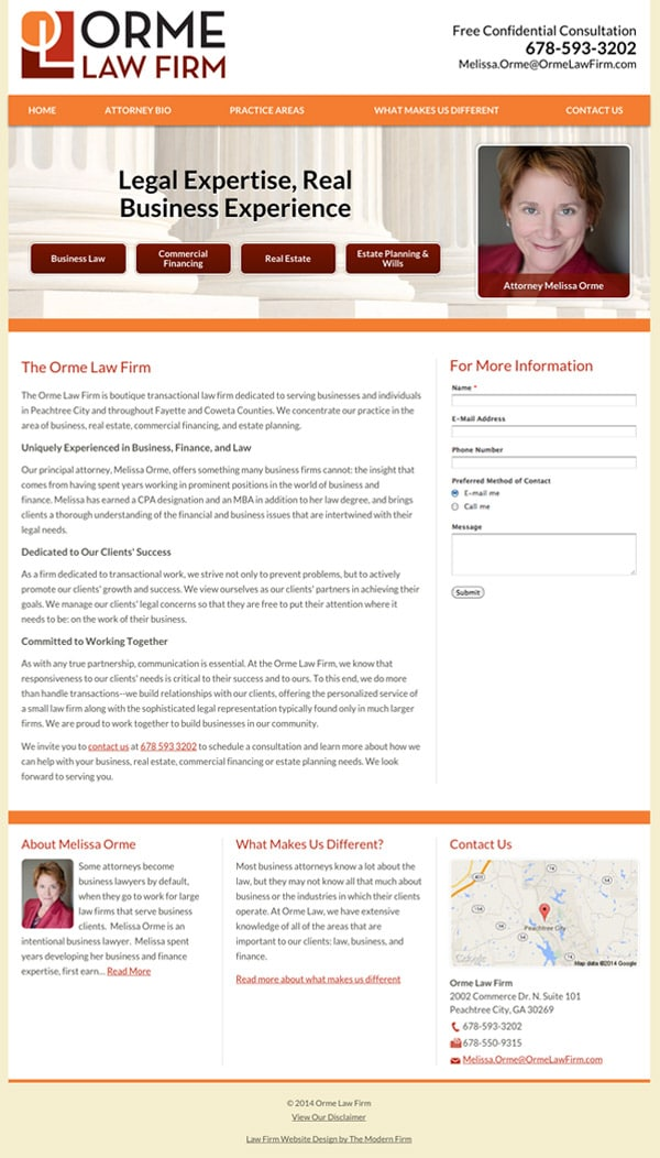 Law Firm Website Design for Orme Law Firm