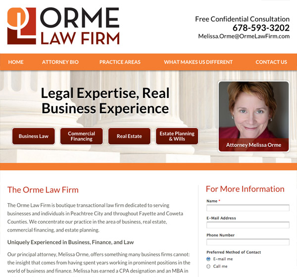 Mobile Friendly Law Firm Webiste for Orme Law Firm