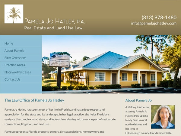 Mobile Friendly Law Firm Webiste for Pamela Jo Hatley, P.A.