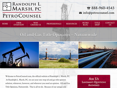 Law Firm Website design for PetroCounsel - Randolph L…