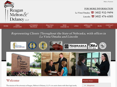 Law Firm Website design for Reagan, Melton & Delaney,…