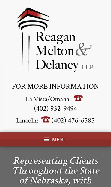 Responsive Mobile Attorney Website for Reagan, Melton & Delaney, L.L.P.