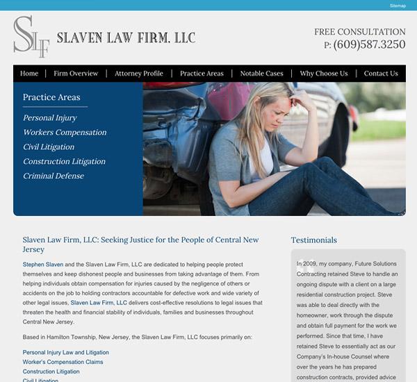 Mobile Friendly Law Firm Webiste for Slaven Law Firm, LLC