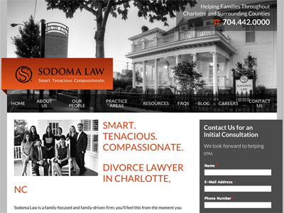 Law Firm Website design for Sodoma Law, P.C.