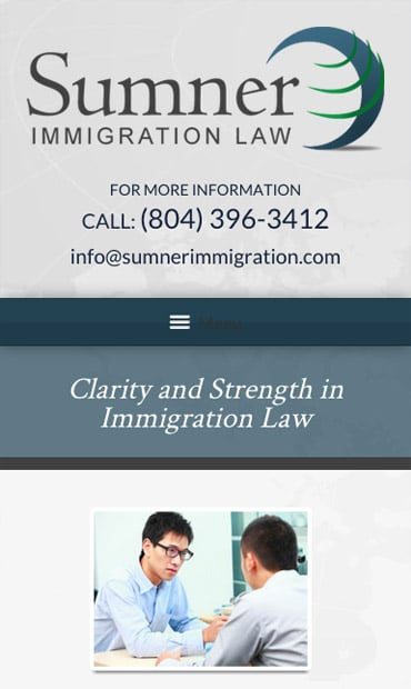 Responsive Mobile Attorney Website for Sumner Immigration Law, PLLC