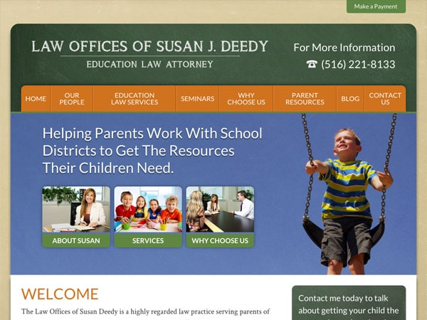 Mobile Friendly Law Firm Webiste for Law Offices of Susan J. Deedy