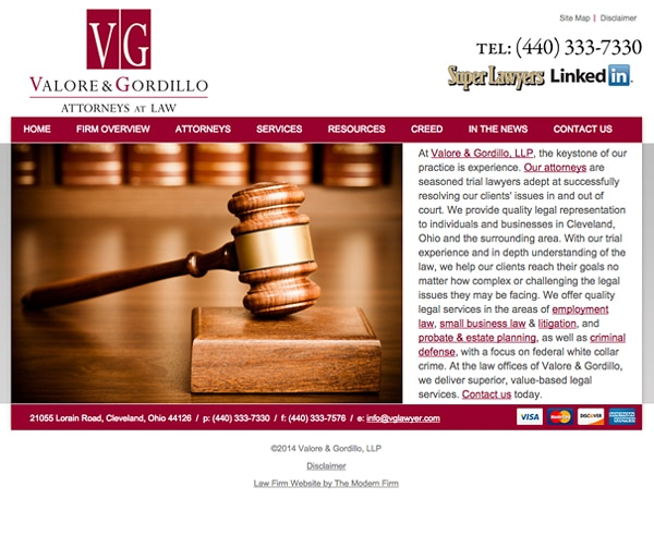 Oh Law Firm >> Cleveland Oh Law Firm Web Design
