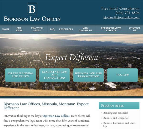 Mobile Friendly Law Firm Webiste for Bjornson Law Offices