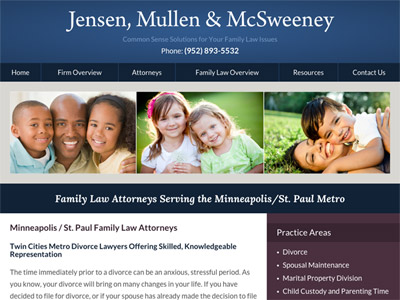 Law Firm Website design for Jensen, Mullen & McSweene…