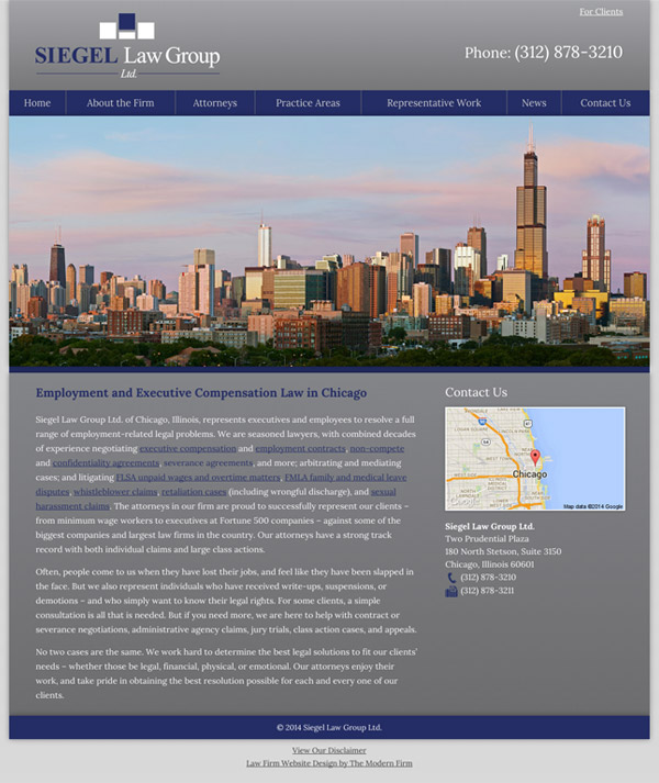 Law Firm Website Design for Siegel Law Group Ltd.