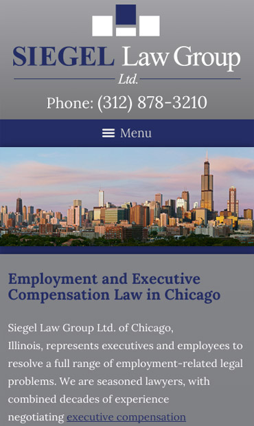 Responsive Mobile Attorney Website for Siegel Law Group Ltd.