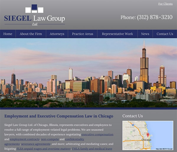 Mobile Friendly Law Firm Webiste for Siegel Law Group Ltd.