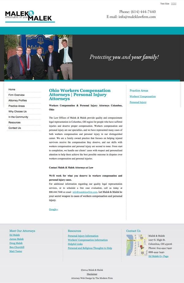 Law Firm Website Design for Malek & Malek