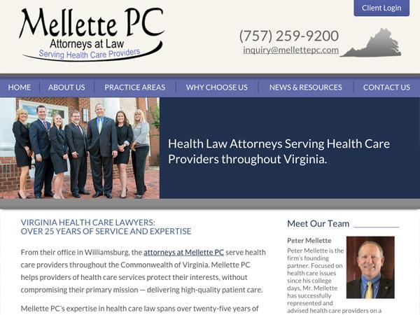 Mobile Friendly Law Firm Webiste for Mellette PC