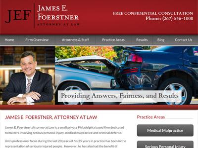 Law Firm Website design for James E. Foerstner, Attor…