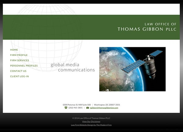 Law Firm Website Design for Law Office of Thomas Gibbon PLLC