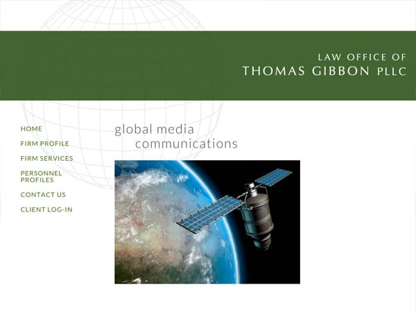 Mobile Friendly Law Firm Webiste for Law Office of Thomas Gibbon PLLC