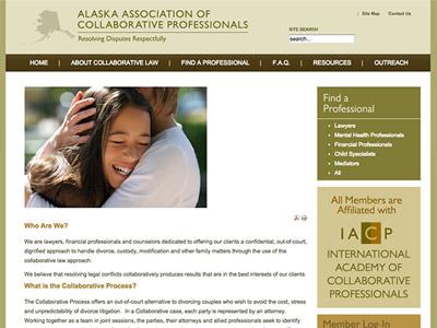 Law Firm Website design for Alaska Association of Col…
