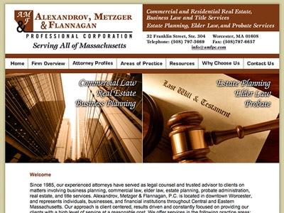 Law Firm Website design for Alexandrov, Metzger & Fla…