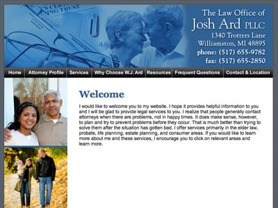 Law Firm Website design for Law Office of Josh Ard PL…