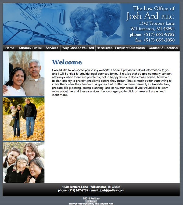 Law Firm Website Design for Law Office of Josh Ard PLLC