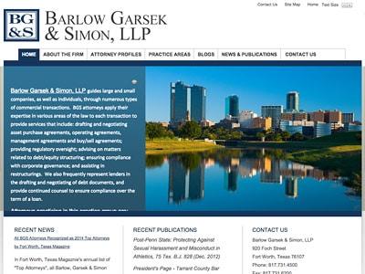 Law Firm Website design for Barlow Garsek & Simon, LL…