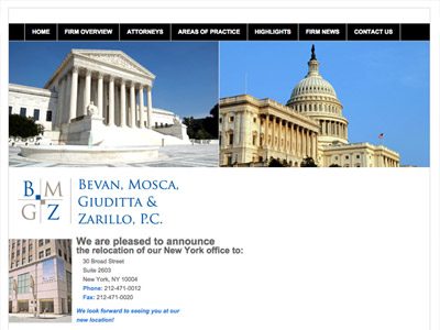 Law Firm Website design for Bevan, Mosca, Giuditta &…