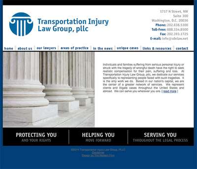 Law Firm Website design for Transportation Injury Law…