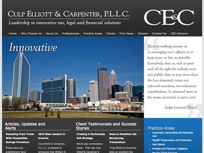 Law Firm Website design for Culp Elliott & Carpenter…