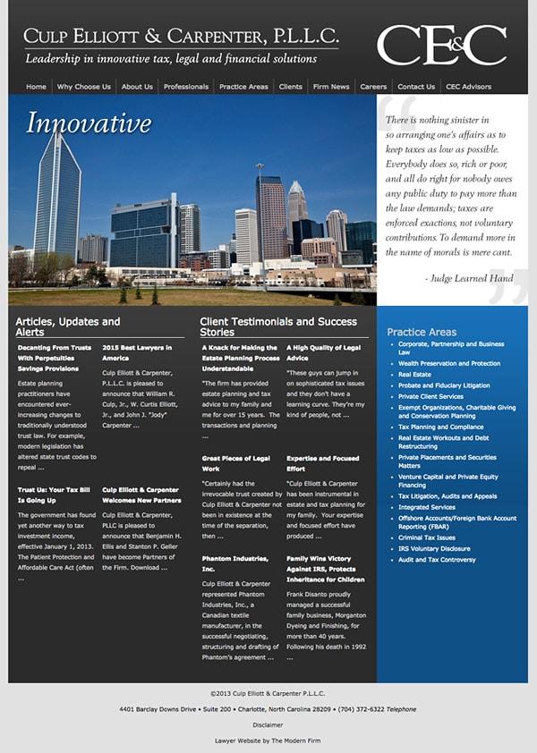 Law Firm Website Design for Culp Elliott & Carpenter P.L.L.C.
