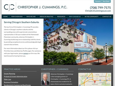 Law Firm Website design for Christopher J. Cummings P…