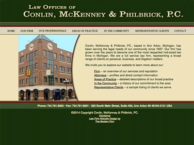 Law Firm Website design for Conlin, McKenney & Phillb…