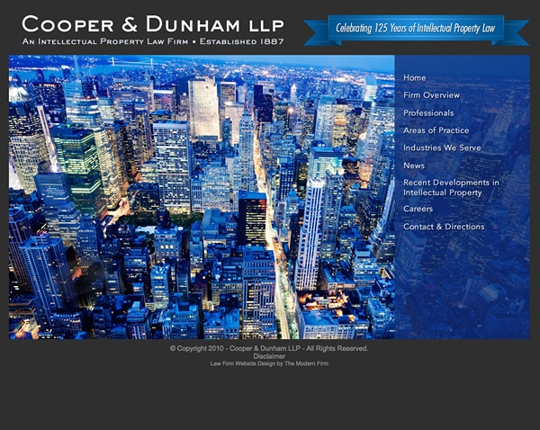 Law Firm Website Design for Cooper & Dunham LLP