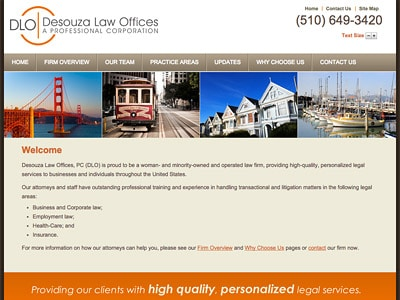 Law Firm Website design for Desouza Law Offices, PC