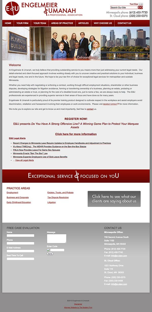 Law Firm Website Design for Engelmeier & Umanah