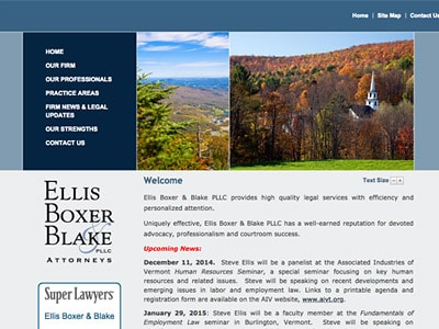 Law Firm Website design for Ellis Boxer & Blake PLLC