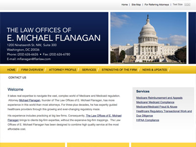 Law Firm Website design for The Law Offices of E. Mic…