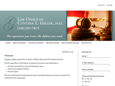 Law Firm Website design for Law Offices of Cynthia L.…