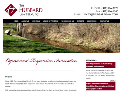 Law Firm Website design for The Hubbard Law Firm