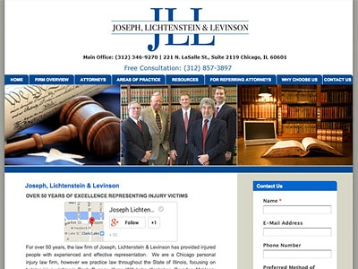 Law Firm Website design for Joseph, Lichtenstein & Le…