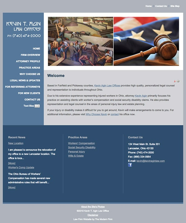 Oh Law Firm >> Lancaster Oh Law Firm Website By The Modern Firm