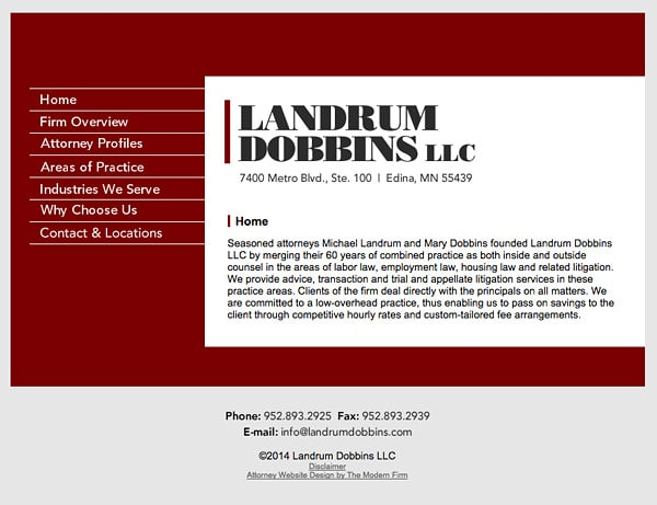Law Firm Website Design for Landrum Dobbins, LLC