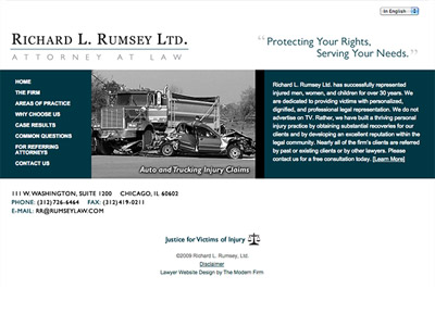 Law Firm Website design for Richard L. Rumsey Ltd.