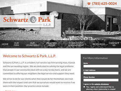 Law Firm Website design for Schwartz & Park, L.L.P.