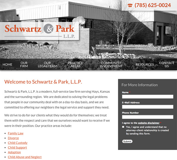 Mobile Friendly Law Firm Webiste for Schwartz & Park, L.L.P.