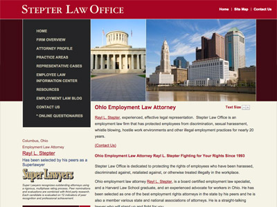 Law Firm Website design for Stepter Law Office