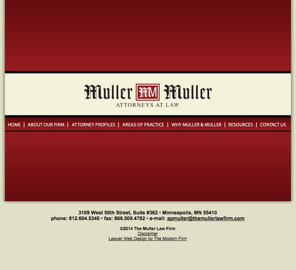 Law Firm Website for The Muller Law Firm