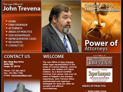 Law Firm Website design for The Law Office of John Tr…